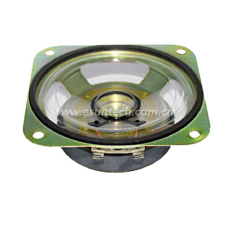 Loudspeaker YD87-01-4F60M 87mm*87mm 3.5inch Square Mylar Cone Waterproof Speaker Unit-ESUTECH