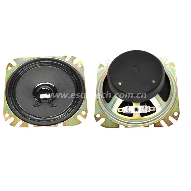 Loudspeaker YD100-7H-8F70P 104mm*104mm*37.5mm 4inch Full Range Paper Cone Speaker Drivers Waterproof Raw Speaker Unit-ESUTECH